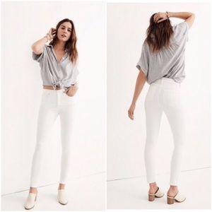 Madewell White Skinny Jeans